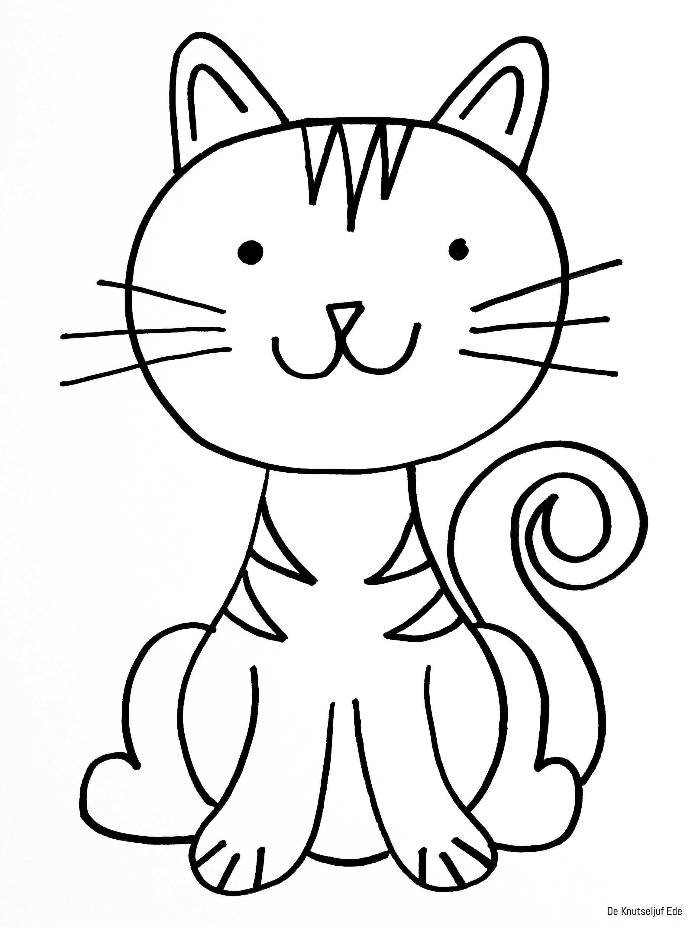 Kleurplaat Van Kittens