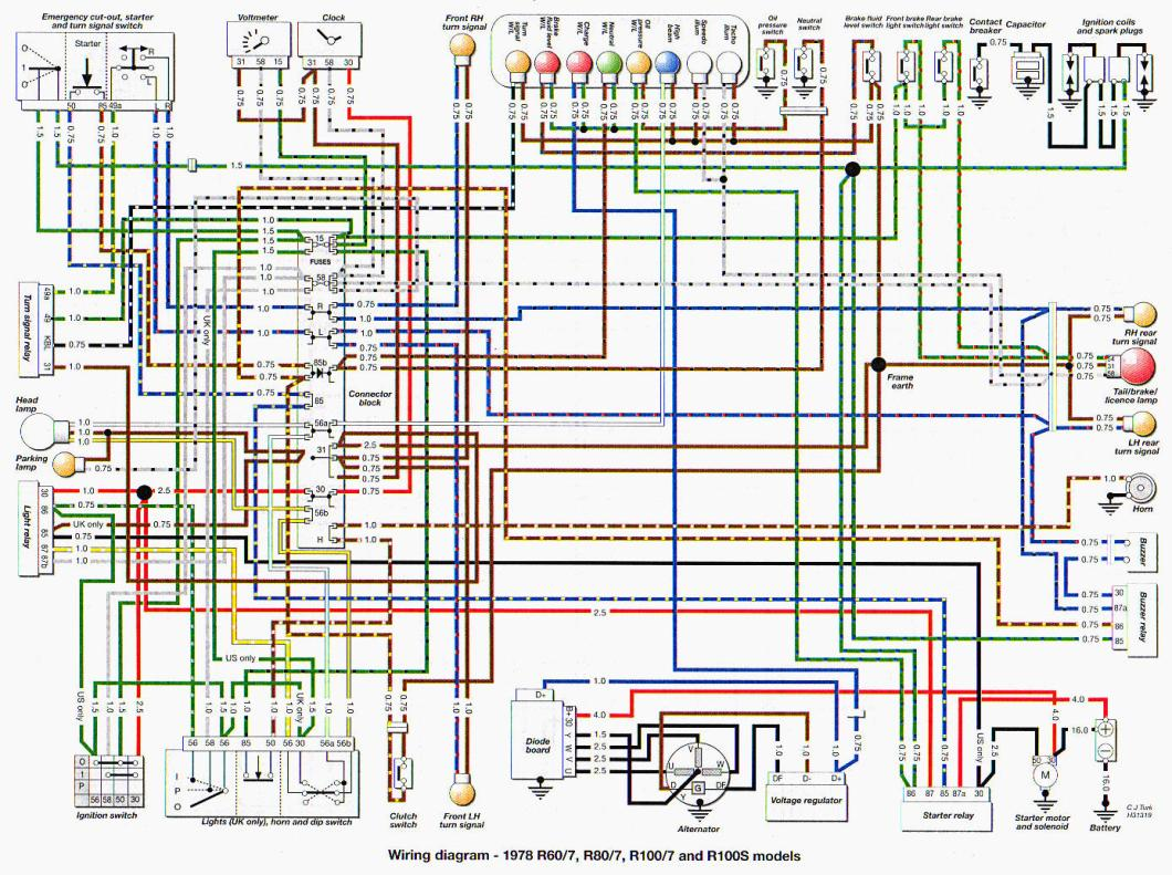 Bmw Motorcycle Starter Wiring Diagram Diagrams