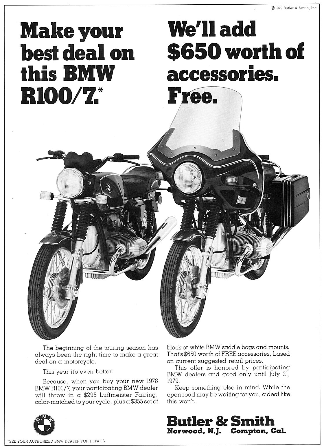 Late 70s Bmw Motorcycle Ephemera