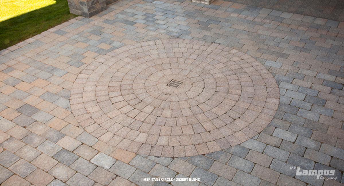 heritage circle paving kit made with