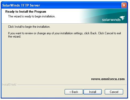 Solarwinds TFTP server installation-install