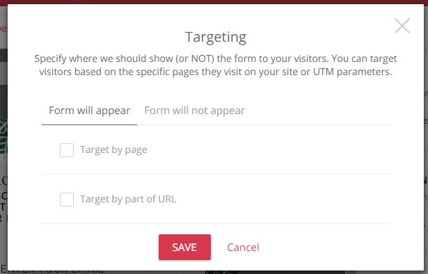 Vous pouvez faire apparaître des popups spéciaux uniquement pour des utilisateurs spécifiques