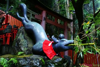 Japon - Kyoto - Sanctuaire Fushimi Inari Taisha - Renard