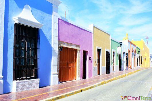 Mexique - Campeche - Rue colorée