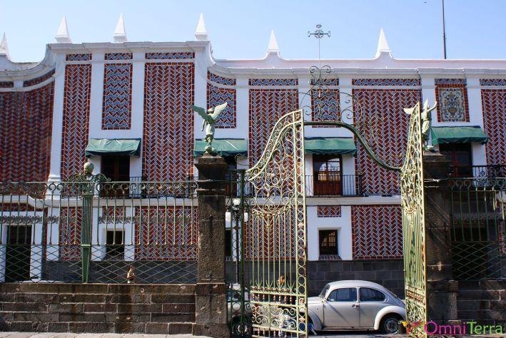 Mexique - Puebla - Bâtiment - Décoration