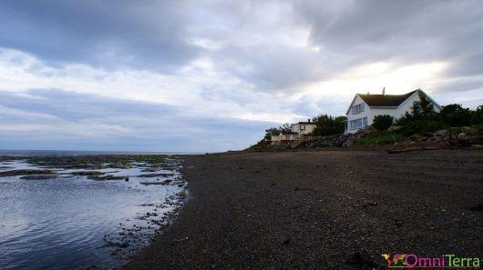 Québec - Gaspésie - Sainte Flavie - Maisons au bord de l'eau