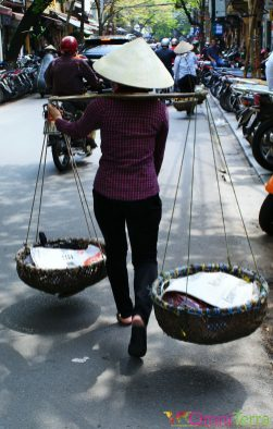 Vietnam - Hanoi - Vendeuse de fruits