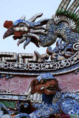Vietnam - Hué - Cité impériale - Dragon