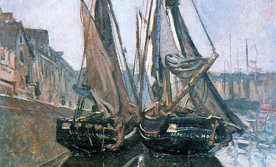 Bateaux de pecheurs à Honfleur - Claude Monet