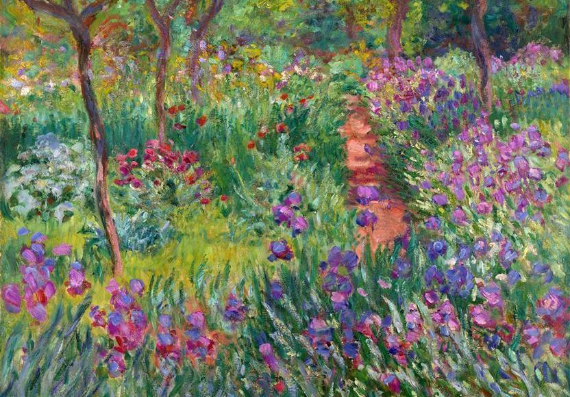 Jardins d'iris à Giverny - Claude Monet