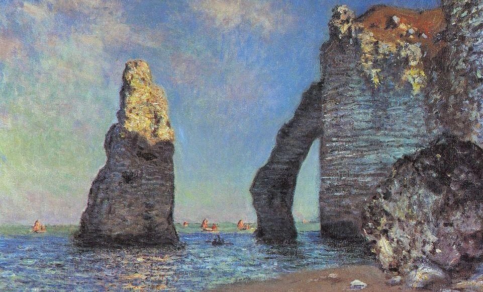 L'aiguille et la porte d'Aval Étretat - Claude Monet
