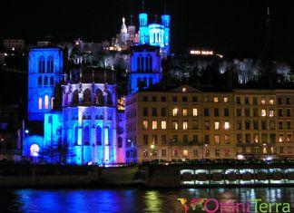Lyon - Fête des Lumières - Quai de Saône
