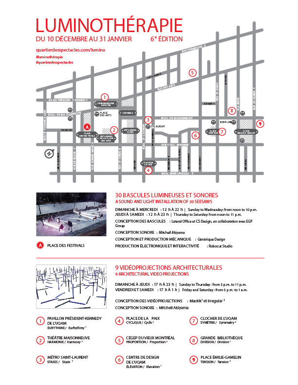Montréal - Luminothérapie - Carte
