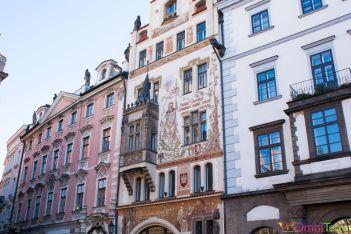 Prague - Stare Mesto - place Staromestske Namesti- Facades