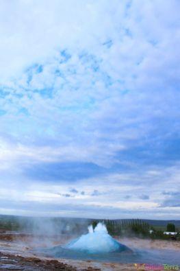 Islande - Geysir - Explosion geyser 3