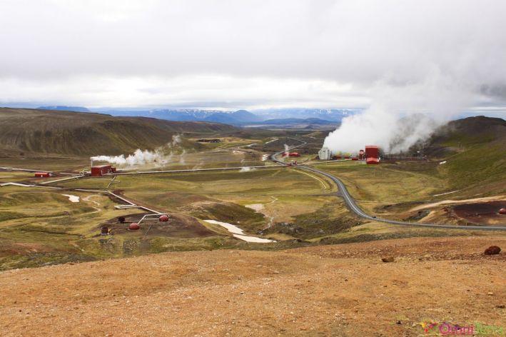 Islande - Krafla - station géothermique