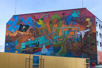 Islande - Reykjavik - Murale couleurs