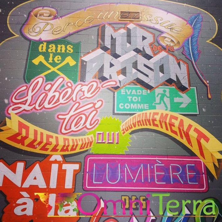 Montreal Street-Art - Mural Mot à mur