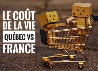 Coût de la vie Québec vs France
