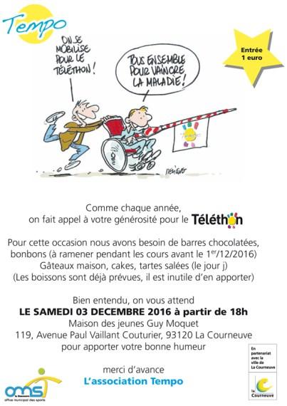 3 décembre : Spectacle de Tempo à la Maison du Peuple Guy Môquet