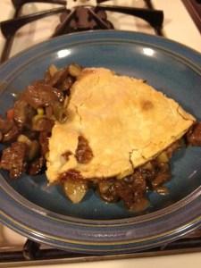 Beef, Mushroom and Vegetable Pub Pie