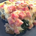 Wild Mushroom, Roasted Potato, Chard and Ham Frittata