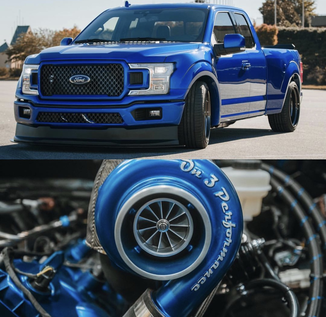 on 3 performance 2018 2020 f 150 5 0 coyote twin turbo system f150
