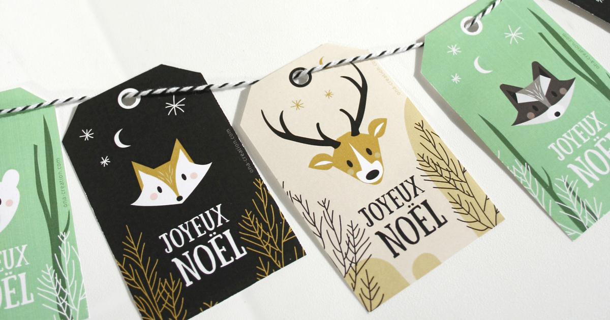 Etiquettes cadeaux de Noël à imprimer DIY