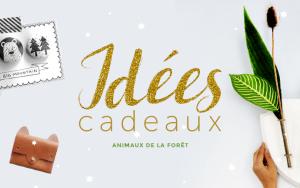 Idées Cadeaux de noel animaux de la foret, bijoux, sac, décoration