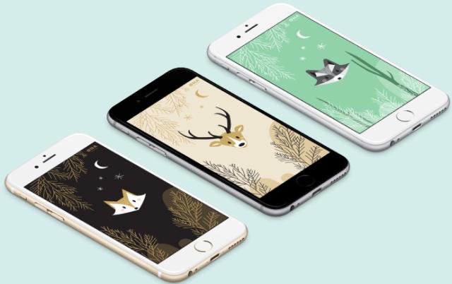 Fonds d'écran hibou renard cerf raton laveur iPhone Galaxy S