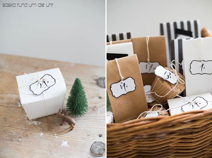 Panier Noël Calendrier de l'Avent - Advent calendar