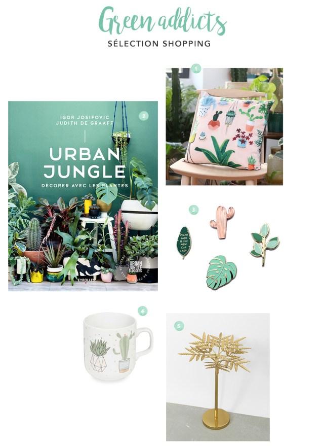 Idées cadeaux Noël plantes green addicts nature urban jungle