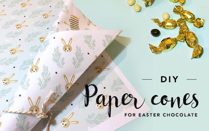 Easter paper cones DIY