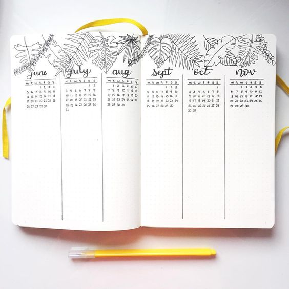Future log - calendrier prévisionnel - bullet journal