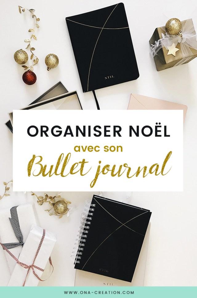 Organiser Noël avec son Bullet Journal - idées pages pour planifier Noël Bujo