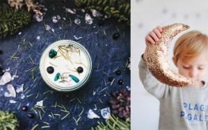 15 idées cadeaux magiques et célestes à shopper sur Etsy - Atelier Oracle, Silly & Billy - Idées cadeaux créateur Etsy - bougie lune dorée
