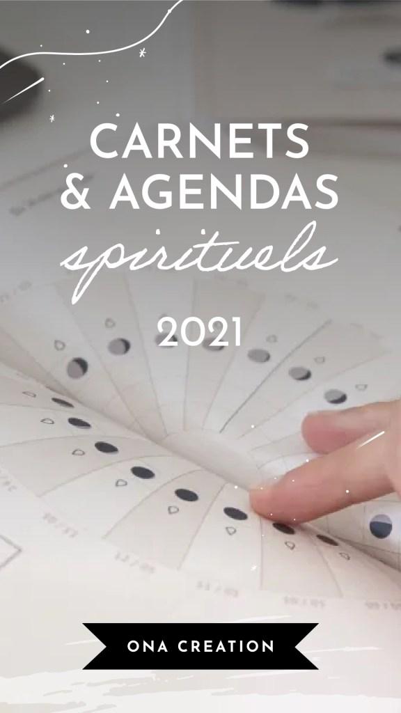 Carnets et agenda spirituels 2021, calendrier sorcière, astrologie, witch, lune