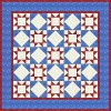 Mission Stitchers logo - quilt