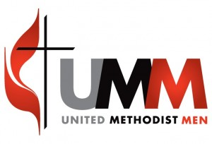 United Methodist Men logo - cross and flame