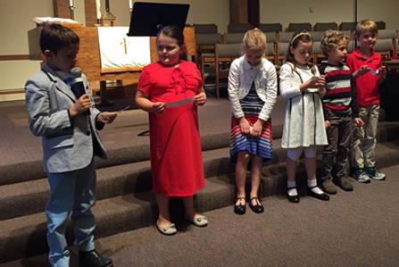 Kids lead worship May 28, 2017