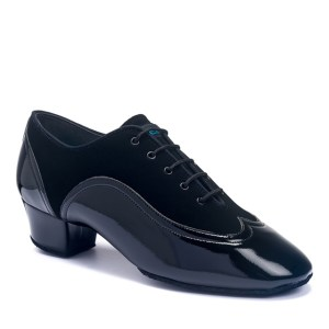 JONES – BLACK NUBUCK/BLACK PATENT