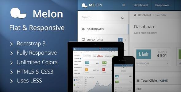 Bootstrap-Melon-admin-theme