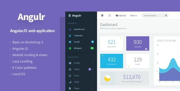 Bootstrap Angulr admin theme
