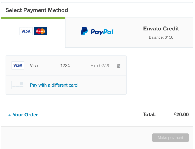 Envato-saved-paiement-card