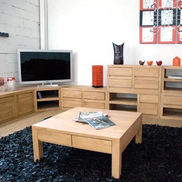 meuble bas 1 tiroir bois massif