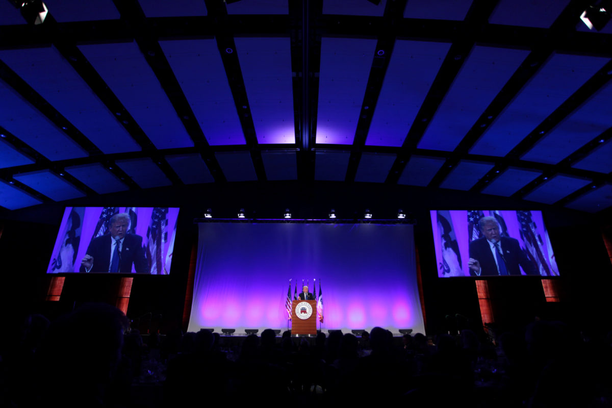 will fascism trump democracy on being donald trump speaking at the iowa republican party s 2015 lincoln dinner at the iowa events center in des moines iowa gage skidmore flickr some
