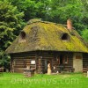 Old wooden hut in Kazimierz Wielki