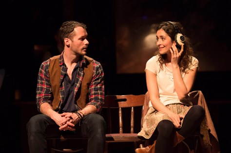 Declan Bennett (Guy) and Zrinka Cvitesic (Girl) in Once. Photo Credit Ma...