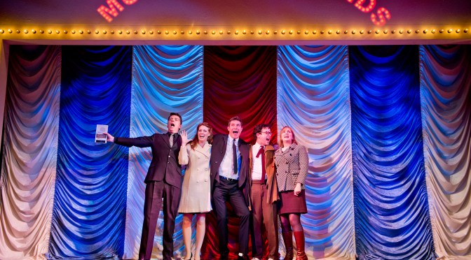 """Merrily We Roll Along"" at the Harold Pinter Theatre"