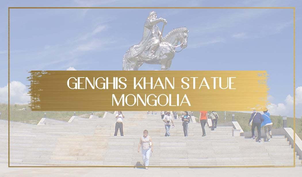 Genghis Khan equestrian statue in Mongolia main